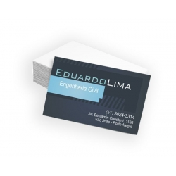 Cartão de Visita Couchê 250g UV FR 9x5 4x0 cor(es) - Qtd 100 un. - Qtd. Mínima: 1 Produção: 5 dia úteis
