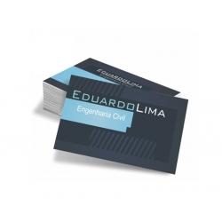 Cartão de Visita Couchê 250g UV FR 9x5 4x4 cor(es) - Qtd 5000 un. - Qtd. Mínima: 1 Produção: 5 dia úteis