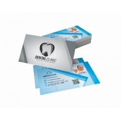 Tags Supremo 300g Brilho + Cartão de Visita Couchê 300g UV FR 9x5 4x1