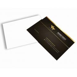 Cartão de Visita Couchê 300g Lam Fosca + UV Local 9x5 4x0 cor(es) - Qtd 1000 un. - Qtd. Mínima: 1 Produção: 5 dias úteis