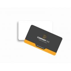Cartão de Visita PVC 0,5 Verniz Cristal FR e VR 8,5x5,4 4x0 cor(es) - Qtd 500 un. - Qtd. Mínima: 1 Produção: 8 dias úteis