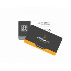 Cartão de Visita PVC 0,3 Branco 8,5x5,4 4x1 cor(es) - Qtd 100 un. - Qtd. Mínima: 1 Produção: 7 dias úteis