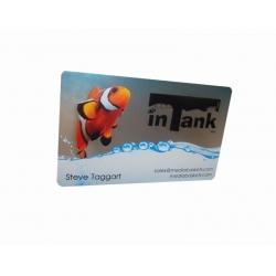 Cartão de Visita PVC 0,3 Transparente + Branco 8,5x5,4 4x0 cor(es) - Qtd 1000 un. - Qtd. Mínima: 1 Produção: 7 dias úteis