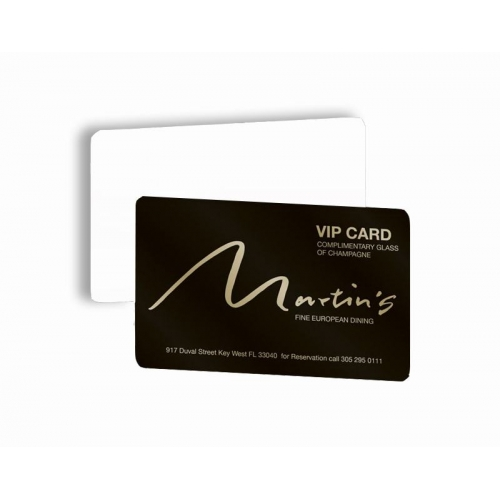 Cartão de Visita PVC 0,76 Verniz Cristal FR e VR 8,5x5,4 4x0 cor(es) - Qtd 50 un. - Qtd. Mínima: 1 Produção: 8 dias úteis