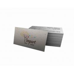 Cartão de Visita Reciclato 240g Lam. Fosca 9x5 4x1 cor(es) - Qtd 3000 un. - Qtd. Mínima: 1 Produção: 5 dias úteis