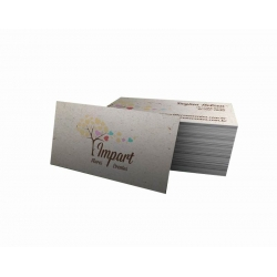 Cartão de Visita Reciclato 240g Lam. Fosca 9x5 4x4 cor(es) - Qtd 1000 un. - Qtd. Mínima: 1 Produção: 5 dias úteis