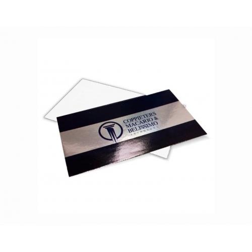Cartão de Visita Supremo Metalizado Uv Total Frente 9x5 4x0 cor(es) - Qtd 500 un. - Qtd. Mínima: 1 Produção: 7 dias úteis
