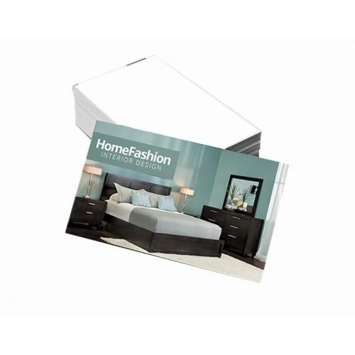 Cartão de Visita Supremo 300g UV FR 9x5 4x0 cor(es) - Qtd 100 un. - Qtd. Mínima: 1 Produção: 5 dias úteis