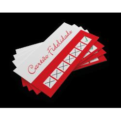 Cartão Fidelidade / Convites / Carteirinha PVC 0,76 Verniz Cristal FR e VR 8,5x5,4 Arte Variável 4x0 cor(es) - Qtd 10 a 14 un. - Qtd. Mínima: 10 Produção: 8 dias úteis