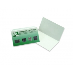Cartão Duplo Reciclato 240g Lam. Fosca 5x18 4x0 cor(es) - Qtd 100 un. - Qtd. Mínima: 1 Produção: 6 dias úteis
