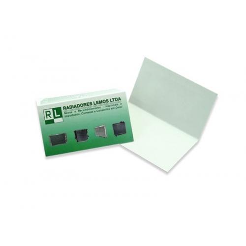 Cartão Duplo Supremo 300g UV FR 5x18 4x0 cor(es) - Qtd 50 un. - Qtd. Mínima: 1 Produção: 6 dias úteis