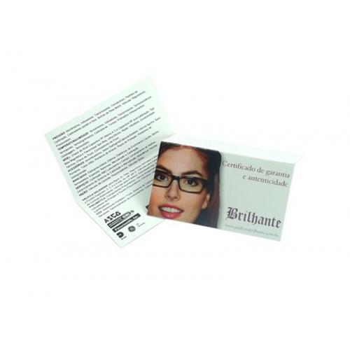 Cartão Duplo Supremo 300g UV FR 5x18 4x1 cor(es) - Qtd 500 un. - Qtd. Mínima: 1 Produção: 6 dias úteis