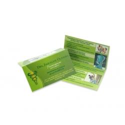 Cartão Duplo Supremo 300g UV FR 5x18 4x4 cor(es) - Qtd 500 un. - Qtd. Mínima: 1 Produção: 6 dias úteis