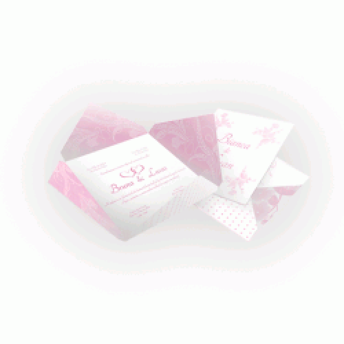 Convite de Casamento  Envelope Aspen Perolizado 180g - 18x18  4x4 cor(es) - Qtd 50 un. - Qtd. Mínima: 1 Produção: 7 dias úteis