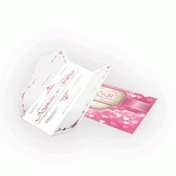 Convite de Casamento Romântico 03 - Envelope Aspen Perolizado 180g - 110x210mm  4x4 cor(es) - Qtd 50 un. - Qtd. Mínima: 1 Produção: 7 dias úteis