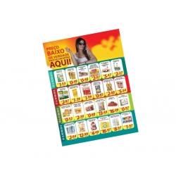 Encartes Supermercado/Loja Sulfite 75g Sem Verniz 30x42 4x0 cor(es) - Qtd 2500 un. - Qtd. Mínima: 1 Produção: 7 dias úteis